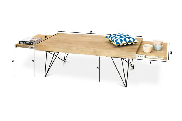 Product Dimensions Extendible coffee table Zurich