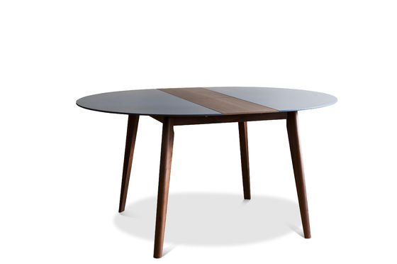 Extensible table cristina legs made of solid walnut pib for Dining table extensible