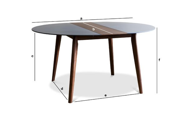 Product Dimensions Extensible table Cristina