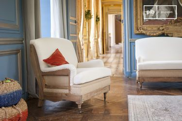 Fabric armchair Gustave