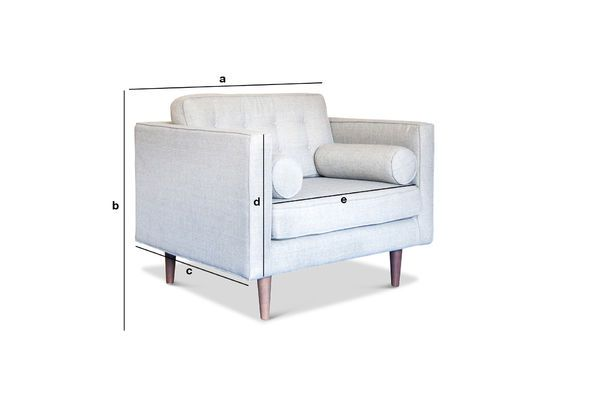 Product Dimensions Fabric Armchair Silkeborg