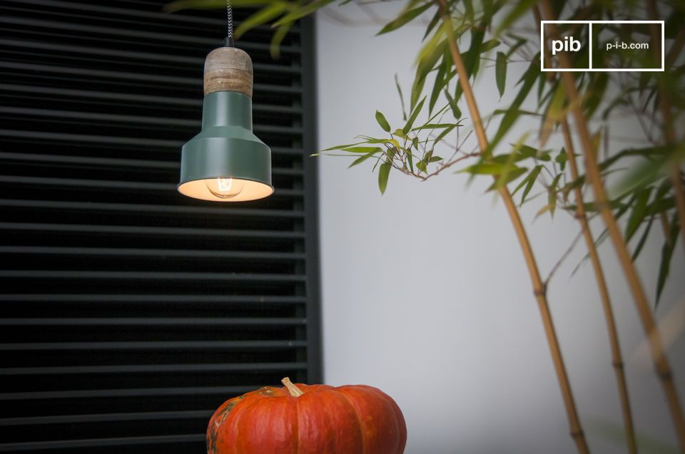 A small retro lamp that will add a colourful tone to your interior