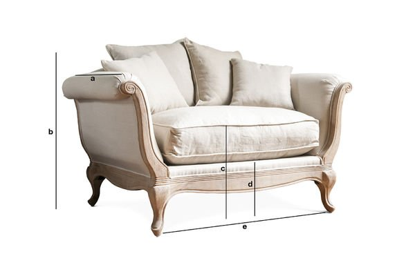 Product Dimensions Fauteuil Grand trianon