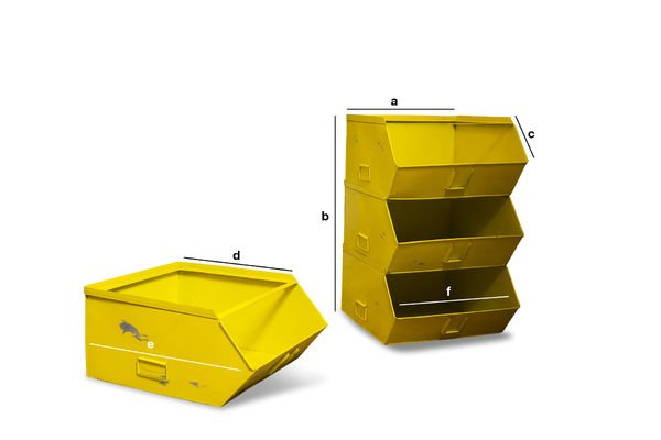 Product Dimensions Félix 4-tray storage