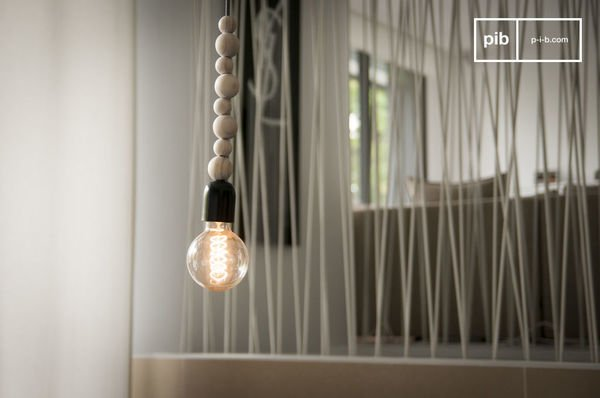 Filipinn wooden pendant light