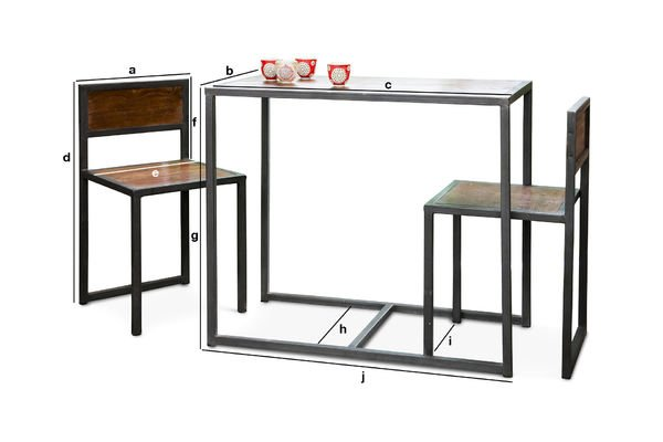 Product Dimensions Finn table and chairs set
