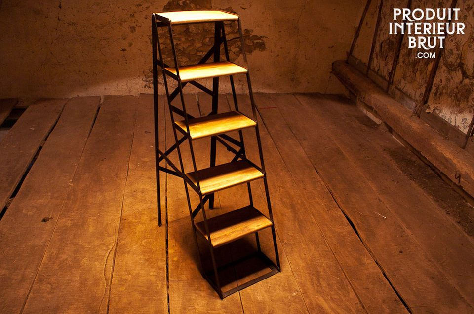 Five-tread workshop step ladder