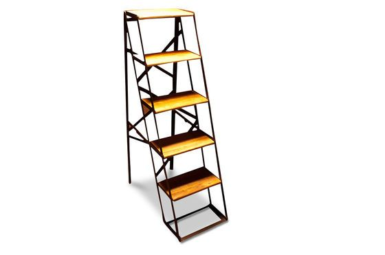 Five-tread workshop step ladder Clipped