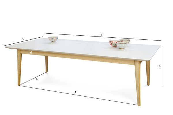 Product Dimensions Fjord rectangular coffee table