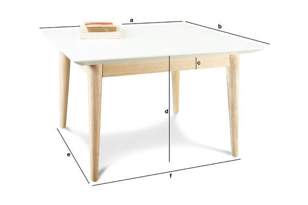 Product Dimensions Fjord square coffee table