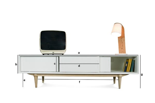Product Dimensions Fjord TV console