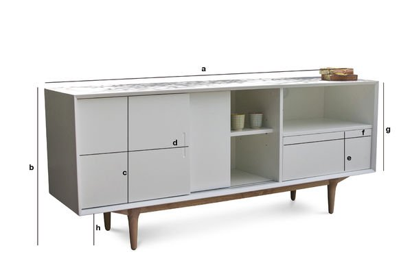 Product Dimensions Fjord wooden buffet
