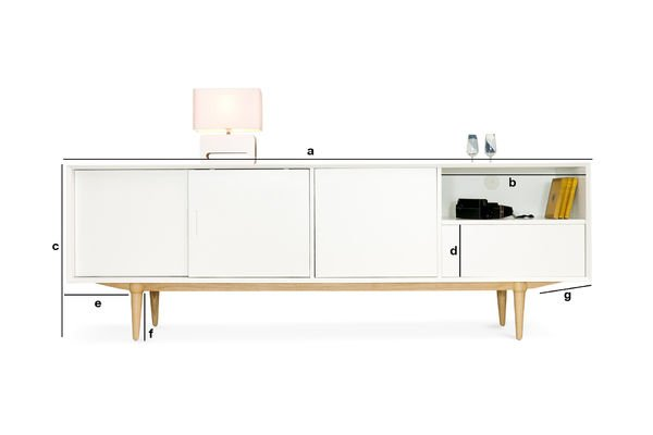 Product Dimensions Fjord wooden sideboard