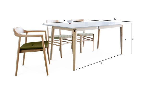 Product Dimensions Fjord wooden table