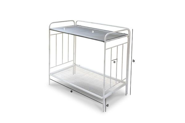 Product Dimensions Florist table Gibelle