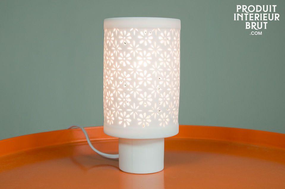 Flowers porcelain light