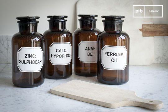Four Apothecary bottles