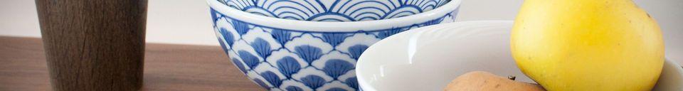 Material Details Four Blue Lagoon Porcelain Bowls