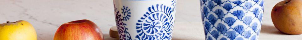 Material Details Four Blue Lagoon Porcelain Cups