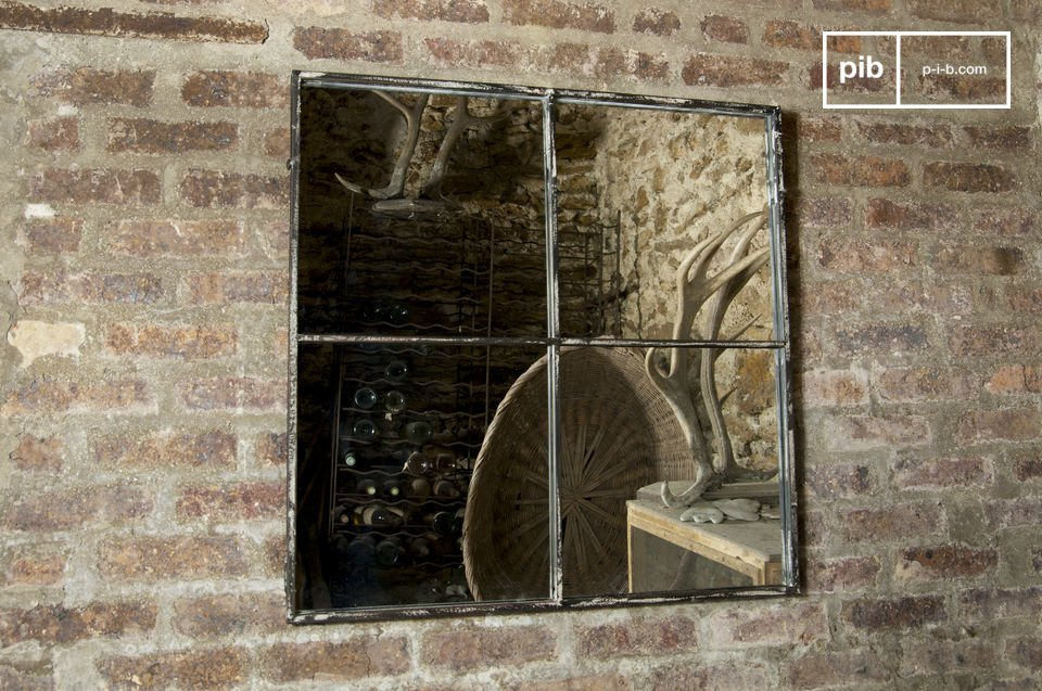 Four panel square mirror