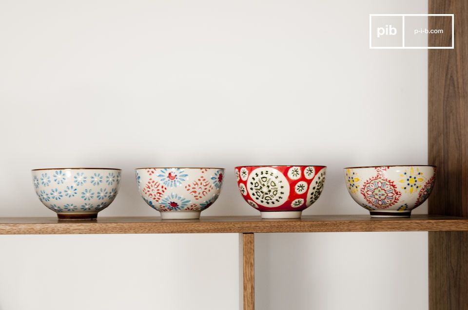The retro style of these bowls is an eyecatcher on a buffet table when serving snacks or nibbles