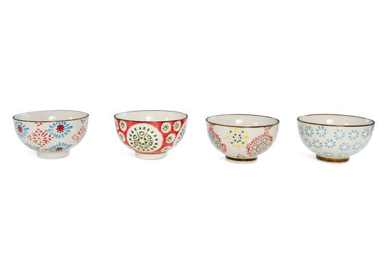 Four tzigane bowls Clipped