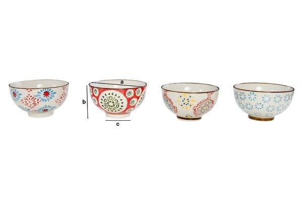 Product Dimensions Four tzigane bowls