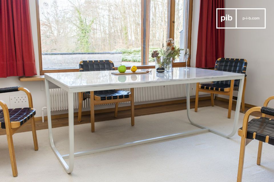 Gällo nordic dining table in  marble