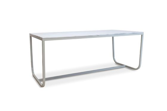 Gällo nordic dining table in  marble Clipped