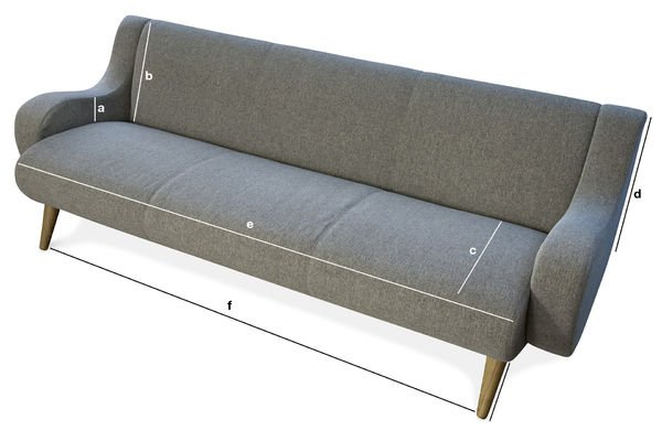 Product Dimensions Geneva three-seater sofa