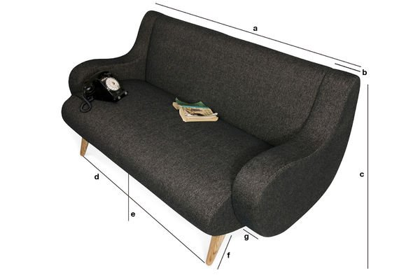 Product Dimensions Geneva two-seater sofa