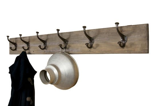 Giant wood and metal coat rack Clipped