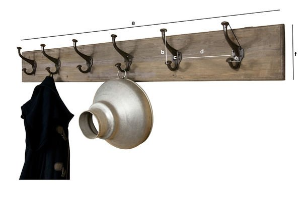 Product Dimensions Giant wood and metal coat rack
