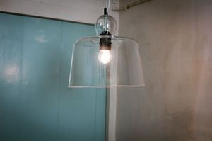 Glass bell suspension light