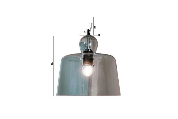 Product Dimensions Glass bell suspension light