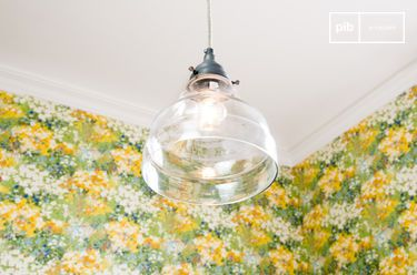 Glass cone pendant light