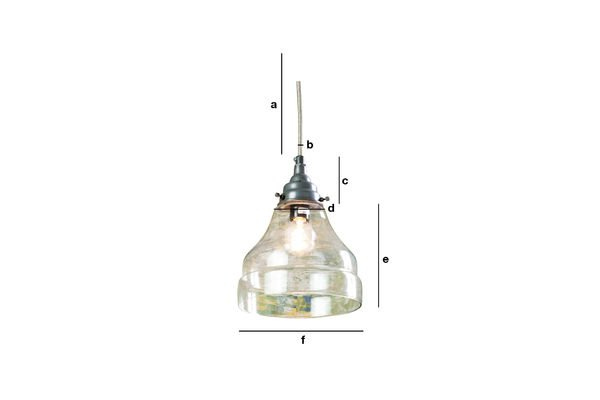Product Dimensions Glass cone pendant light