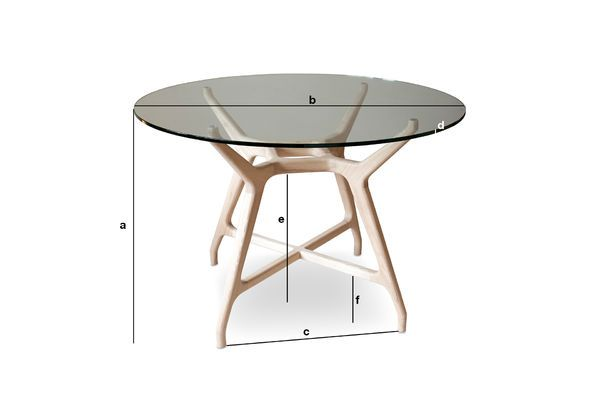Product Dimensions Glass round table Nixon
