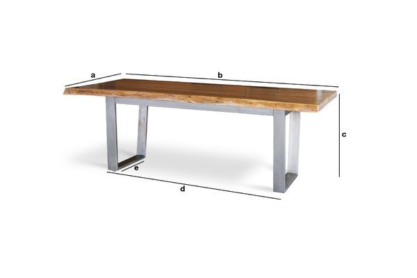 Product Dimensions Grand Avallan table