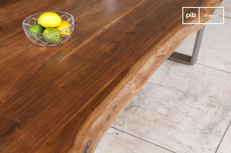 The Avallan table combines a thick
