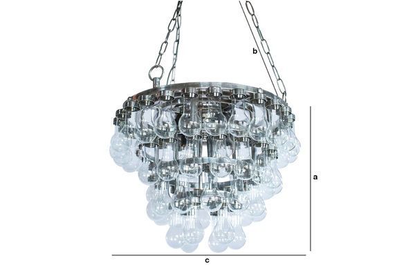 Product Dimensions Grand Glass Chandelier A Thousand Drops