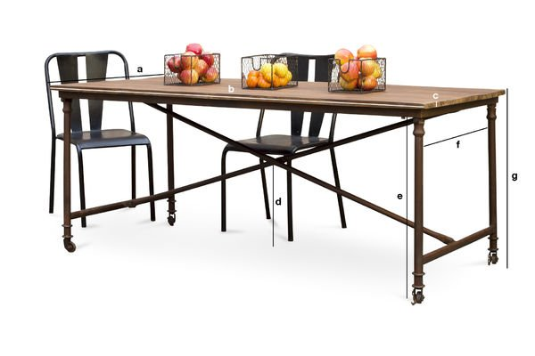 Product Dimensions Grenelle dining table