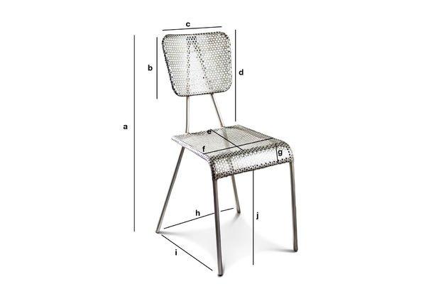 Product Dimensions Grey chair Métalo