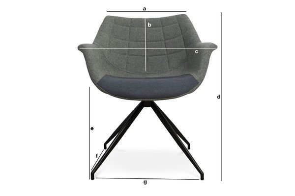 Product Dimensions Grey Grimsson armchair