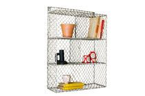 Grid wall shelf with 5 compartments