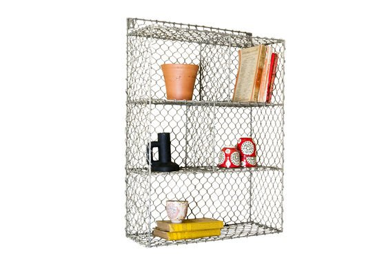 Grid wall shelf with 5 compartments Clipped