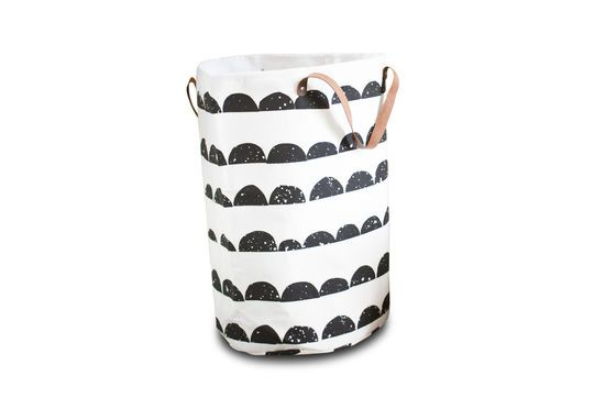 Half moon laundry basket Clipped