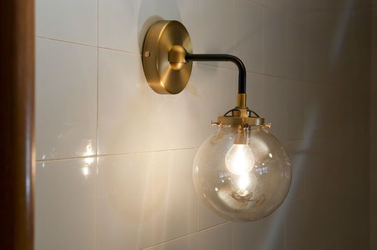 Halsa golden wall lamp