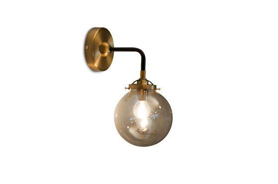 Halsa golden wall lamp Clipped