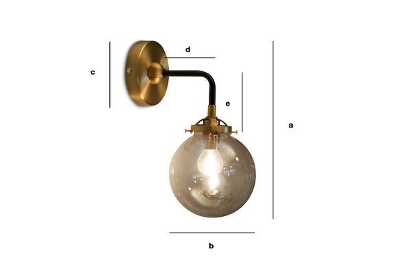 Product Dimensions Halsa golden wall lamp